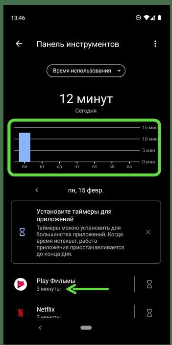 Как посмотреть время работы приложений на Андроид