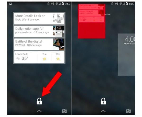 Как убрать виджет с экрана блокировки Андроид