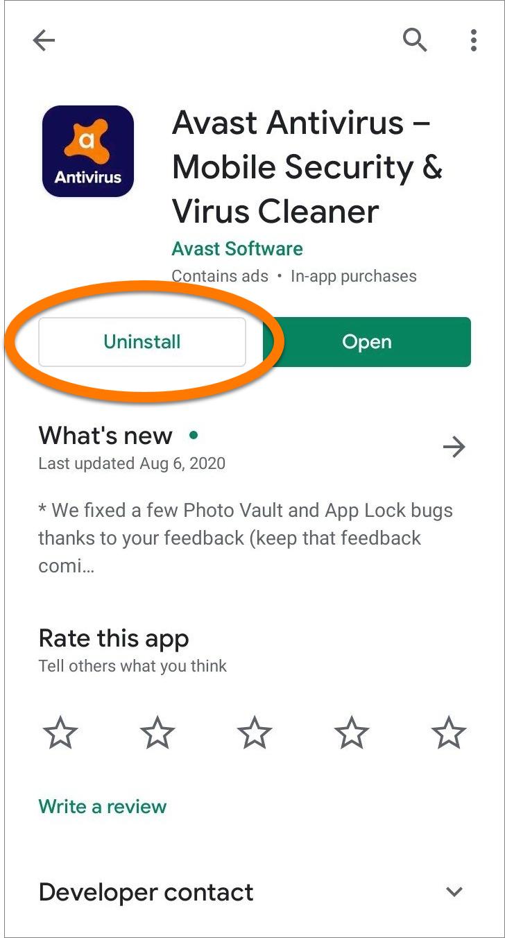 Как удалить антивирус с Андроида
