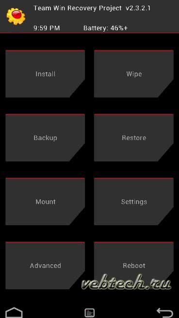 Как удалить прошивку с Андроида через recovery