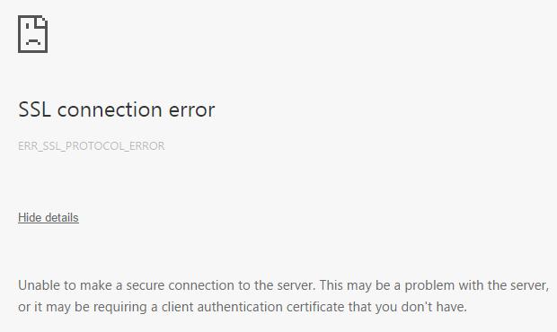 Ошибка подключения SSL — как исправить на Андроид