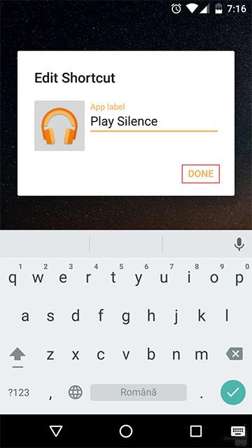 Как изменить подписи под ярлыками на Android
