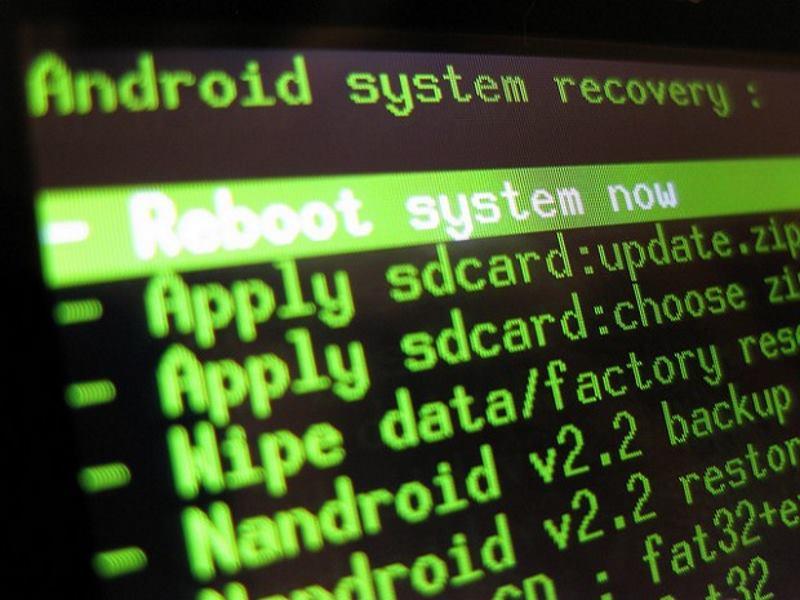 Как откатить обновление Андроид через рекавери