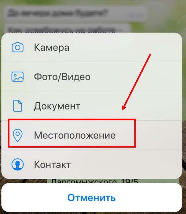 Как отправить геолокацию в вотсапе Андроид