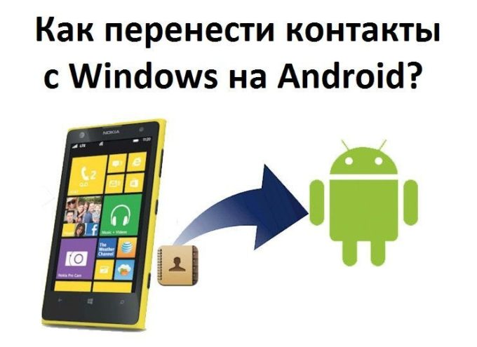 Как перенести контакты с майкрософт на Андроид