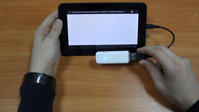 Как подключить модем к планшету Андроид