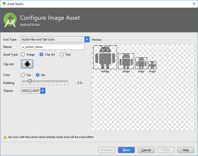 Как поменять иконку приложения Android studio